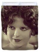Clara Bow, Vintage Actress Duvet Cover