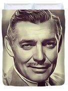Clark Gable, Vintage Actor Duvet Cover
