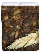Close Up Bread And Wheat Cereal Crops Duvet Cover