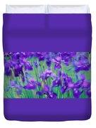 Close-up Of Purple Flowers Duvet Cover