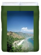 Coast And Beach View Near Dili In East Timor Leste Duvet Cover