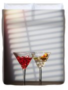 Cocktails At The Bar Duvet Cover
