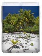 Coconut Palms On A Polynesian Beach Duvet Cover