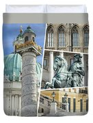 Collage Of Vienna Duvet Cover