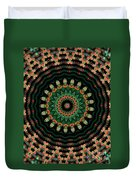 Colorful Kaleidoscope Incorporating Aspects Of Asian Architectur Duvet Cover