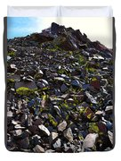 Colorful Lichens Growing On Rocks Along Monument Ridge, In The Eastern Sierra Nevadas Duvet Cover