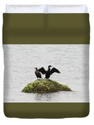 Cormorants Port Jefferson New York Duvet Cover