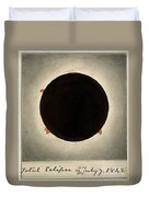 Corona Of The Sun During Total Eclipse Duvet Cover