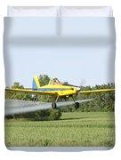 Crop Dusting Plane Duvet Cover