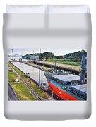 Crossing Panama Canal Duvet Cover