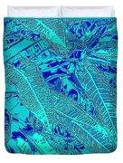 Croton Series - Blue Duvet Cover
