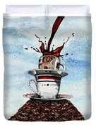 2 Cups Coffee Duvet Cover