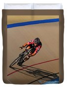 Cycle Racing On The Curve Duvet Cover