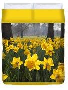 Daffodils In St James Park London Duvet Cover
