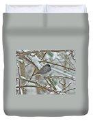 Dark-eyed Junco - Snowbird Duvet Cover