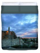 David Tower At Sunset  Duvet Cover
