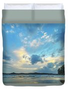 Dawn Seascape With Cloudy Sky Duvet Cover