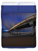 Deerfield Beach, Florida Pier Duvet Cover