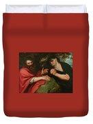 Democritus And Heraclitus Duvet Cover
