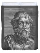 Demosthenes, Ancient Greek Orator Duvet Cover