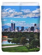 Denver City Park Duvet Cover