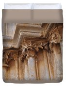 Detail Of The Medieval Portal Of Saint Marys Church In Tavira. Portugal Duvet Cover