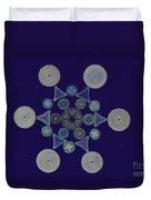 Diatom Arrangement Duvet Cover
