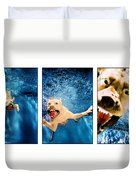 Dog Underwater Series Duvet Cover