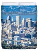 Downtown San Francisco City Street Scenes And Surroundings Duvet Cover
