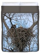 2 Eagles On Nest  3172b  Duvet Cover