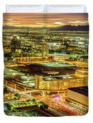 Early Morning Sunrise Over Valley Of Fire And Las Vegas Duvet Cover