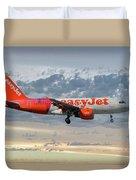 Easyjet Tartan Livery Airbus A319-111 Duvet Cover
