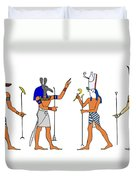 Egyptian Gods And Goddess Duvet Cover by Michal Boubin