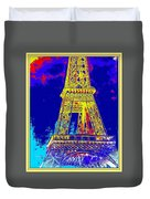 Eiffel Tower Duvet Cover