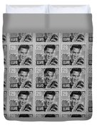 Elvis Commemorative Stamp January 8th 1993 Painted Bw Duvet Cover
