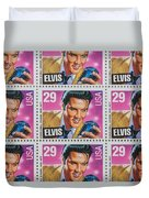 Elvis Commemorative Stamp January 8th 1993 Painted  Duvet Cover