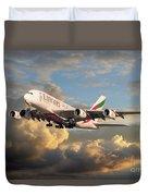 Emirates Airbus A380 Duvet Cover