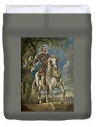 Equestrian Portrait Of The Duke Of Lerma Duvet Cover