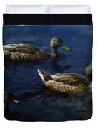 Exotic Birds Of America Ducks In A Pond Duvet Cover