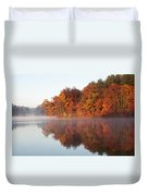 Fall Sunrise At Cox Hollow Lake In Governor Dodge State Park Duvet Cover