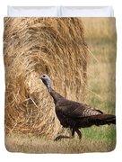 Female Eastern Wild Turkey Duvet Cover