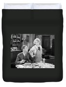 Film Still: Eating & Drinking Duvet Cover