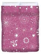 Floral Doodles Duvet Cover