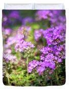 Flowering Thyme Duvet Cover