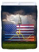 Fracking In The U.s Duvet Cover