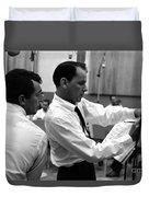Frank Sinatra And Dean Martin At Capitol Records Studios 1958. Duvet Cover