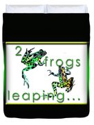 2 Frogs Leaping Duvet Cover