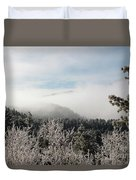 Frosty Pikes Peak Duvet Cover