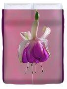 Fuschia Petals Duvet Cover