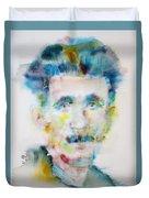 George Orwell - Watercolor Portrait Duvet Cover